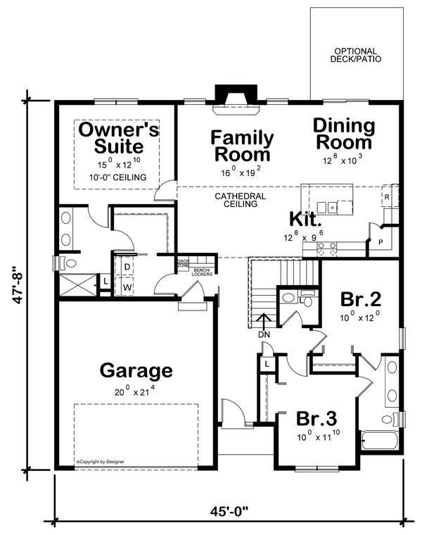 Farmhouse Floor Plan - Main Floor Plan #20-2462