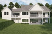 Farmhouse Style House Plan - 4 Beds 3.5 Baths 3138 Sq/Ft Plan #1070-116 Exterior - Rear Elevation