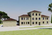 Home Plan - European Exterior - Rear Elevation Plan #542-9