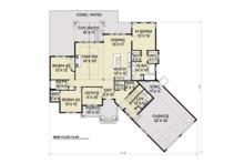 Craftsman Floor Plan - Main Floor Plan Plan #1070-15