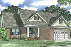 Traditional Exterior - Front Elevation Plan #17-1175