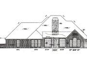 European Style House Plan - 4 Beds 3.5 Baths 2911 Sq/Ft Plan #310-225 Exterior - Rear Elevation
