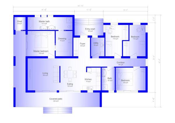 Modern Floor Plan - Main Floor Plan Plan #549-3