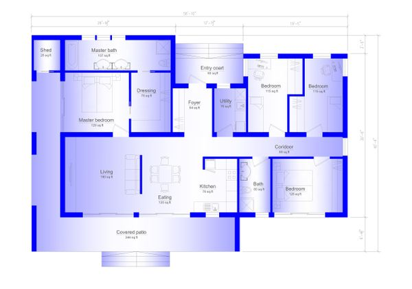 Modern Floor Plan - Main Floor Plan #549-3