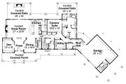 Craftsman Style House Plan - 3 Beds 2.5 Baths 3815 Sq/Ft Plan #124-925 Floor Plan - Main Floor Plan
