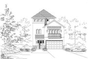 European Style House Plan - 3 Beds 4.5 Baths 3280 Sq/Ft Plan #411-649 Exterior - Front Elevation