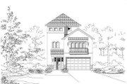 European Style House Plan - 3 Beds 4.5 Baths 3280 Sq/Ft Plan #411-649