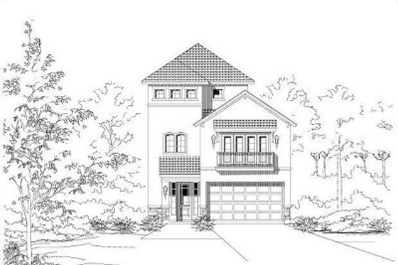 European Exterior - Front Elevation Plan #411-649