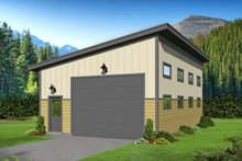 Dream House Plan - Contemporary Exterior - Front Elevation Plan #932-284
