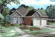 Traditional Style House Plan - 3 Beds 2 Baths 1379 Sq/Ft Plan #17-189 Exterior - Front Elevation