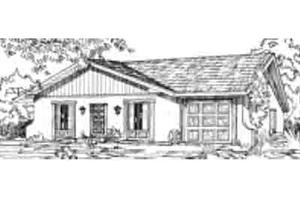 Adobe / Southwestern Exterior - Front Elevation Plan #1-136