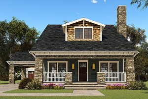 Country Exterior - Front Elevation Plan #923-149