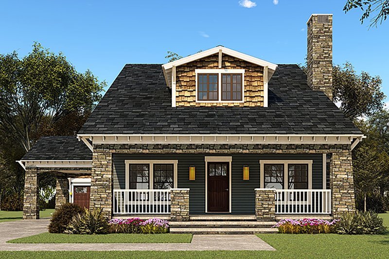 Country Style House Plan - 3 Beds 3.5 Baths 2358 Sq/Ft Plan #923-149 Exterior - Front Elevation