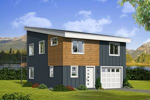 Home Plan - Contemporary Exterior - Front Elevation Plan #932-181