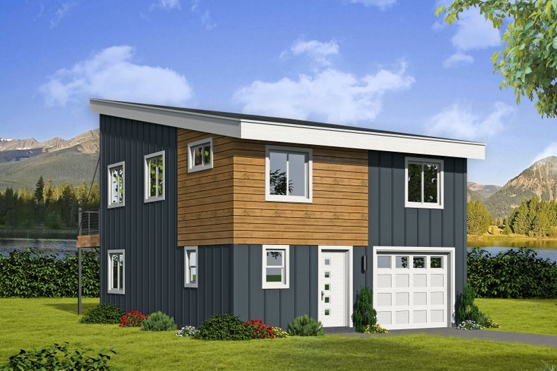 Architectural House Design - Contemporary Exterior - Front Elevation Plan #932-181
