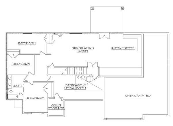 House Plan Design - Traditional Floor Plan - Lower Floor Plan #5-267