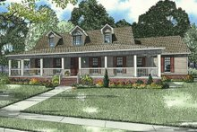 Country Exterior - Front Elevation Plan #17-2594