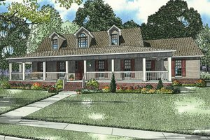 Dream House Plan - Country Exterior - Front Elevation Plan #17-2594