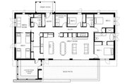 Modern Style House Plan - 4 Beds 3 Baths 2448 Sq/Ft Plan #497-37 Floor Plan - Main Floor Plan