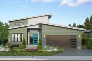 Modern Exterior - Front Elevation Plan #124-1207