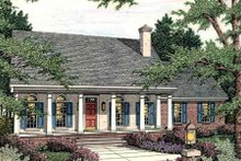 Architectural House Design - Southern Exterior - Front Elevation Plan #406-279