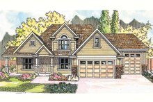 Architectural House Design - Country Exterior - Front Elevation Plan #124-604