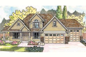 Country Exterior - Front Elevation Plan #124-604
