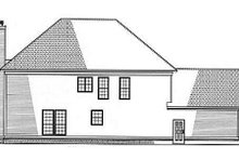 House Plan Design - Southern Exterior - Rear Elevation Plan #17-258