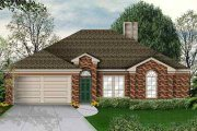Traditional Style House Plan - 4 Beds 2 Baths 1777 Sq/Ft Plan #84-124 Exterior - Front Elevation