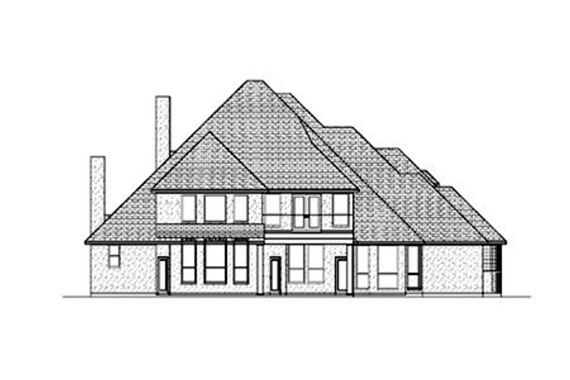 European Exterior - Rear Elevation Plan #84-423 - Houseplans.com