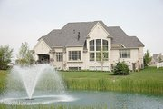 European Style House Plan - 5 Beds 6 Baths 6799 Sq/Ft Plan #458-4 Exterior - Rear Elevation