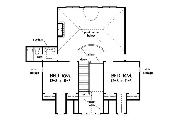House Plan Design - Country Floor Plan - Upper Floor Plan #929-18