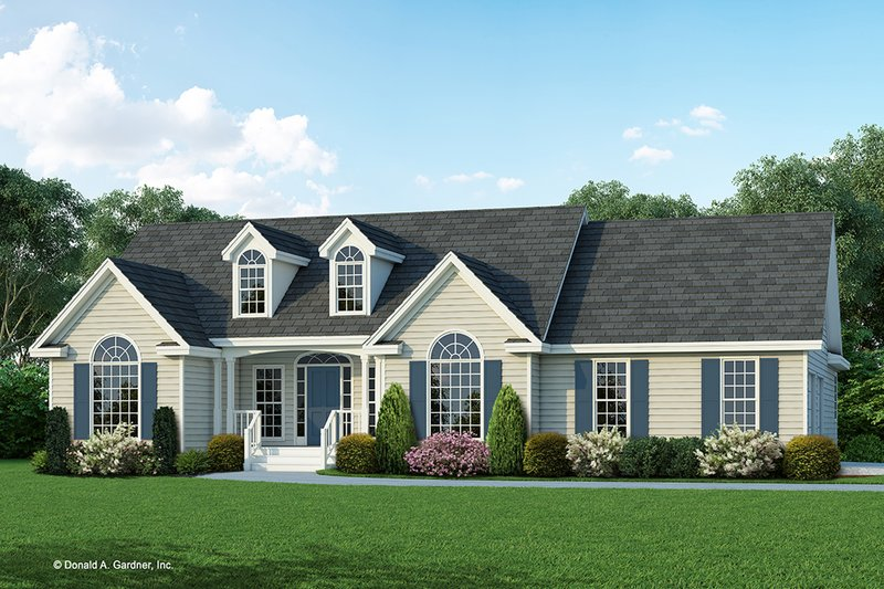 Country Exterior - Front Elevation Plan #929-168