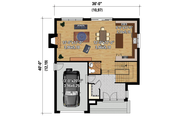 Contemporary Style House Plan - 3 Beds 2 Baths 2163 Sq/Ft Plan #25-4314 Floor Plan - Main Floor Plan