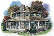 Country Style House Plan - 3 Beds 2 Baths 1423 Sq/Ft Plan #18-296 Exterior - Front Elevation