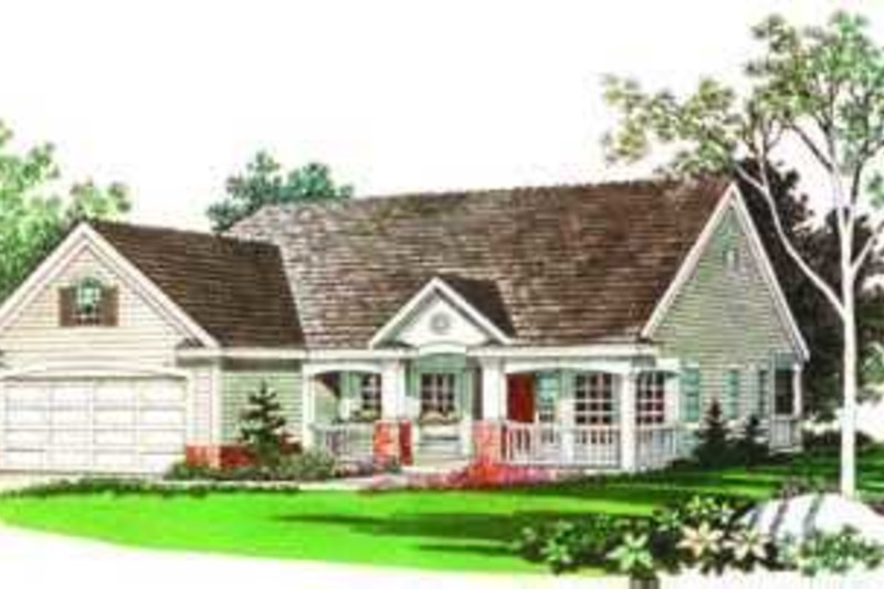 Traditional Exterior - Front Elevation Plan #72-102