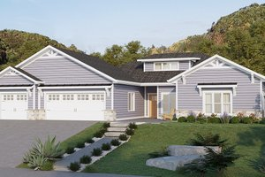 House Design - Ranch Exterior - Front Elevation Plan #1077-9