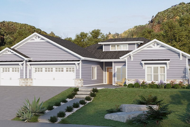 Home Plan - Ranch Exterior - Front Elevation Plan #1077-9