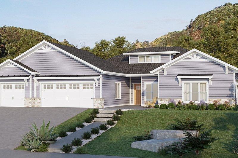 House Plan Design - Ranch Exterior - Front Elevation Plan #1077-9