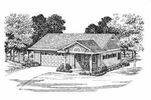 Traditional Exterior - Front Elevation Plan #72-268