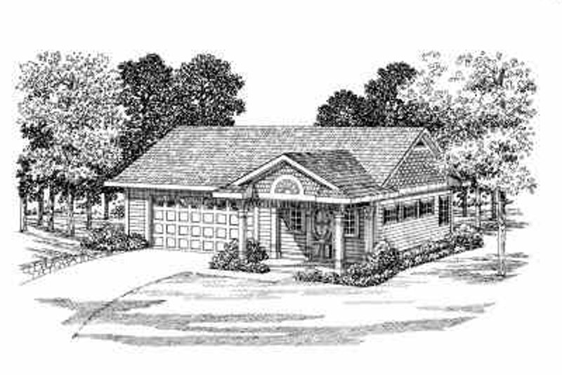 Traditional Style House Plan - 0 Beds 0 Baths 861 Sq/Ft Plan #72-268 Exterior - Front Elevation