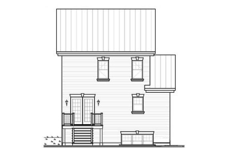 Country Exterior - Rear Elevation Plan #23-2181 - Houseplans.com