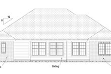 Home Plan - Traditional Exterior - Rear Elevation Plan #513-2062