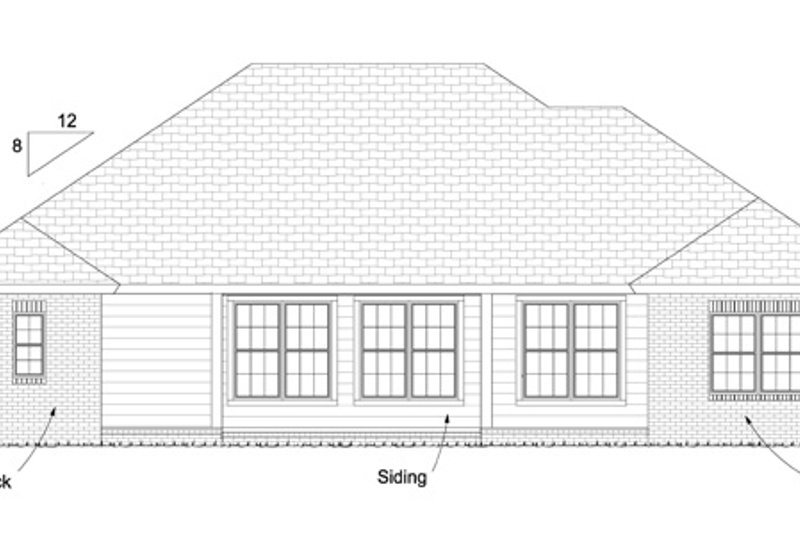 Traditional Exterior - Rear Elevation Plan #513-2062 - Houseplans.com