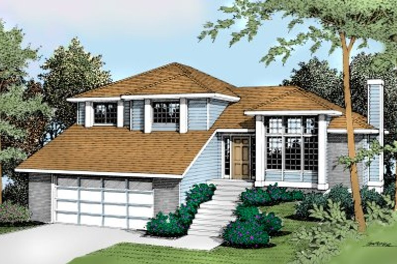 Traditional Exterior - Front Elevation Plan #90-404 - Houseplans.com