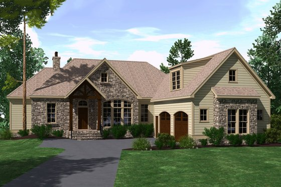 Ranch Exterior - Front Elevation Plan #1071-11
