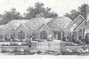 Colonial Exterior - Front Elevation Plan #310-885