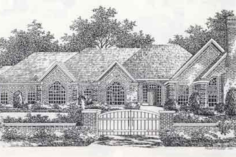 Colonial Style House Plan - 3 Beds 2 Baths 2763 Sq/Ft Plan #310-885 Exterior - Front Elevation