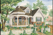 Victorian Style House Plan - 3 Beds 1 Baths 1159 Sq/Ft Plan #25-4770 Exterior - Front Elevation
