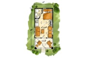 Log Style House Plan - 1 Beds 1 Baths 216 Sq/Ft Plan #942-45 Floor Plan - Main Floor